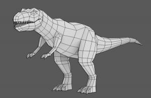 Asas' Dino model in Blender